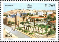 Villes d'Algérie – Saida DZ N° 034.08 le 18 décembre 2008 | philatelyfriend Timbre Collection, Le Zoo, Stamps, Mansions, House Styles, World, Fresco, Cities, Seals
