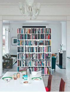 bookshelf as a divid