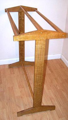 Antique stickley craftsman mission inspired custom handcrafted quarter sawn oak quilt rack or towel art blanket stand made in usa 26 Colors