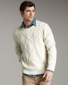 Men's Aran Sweaters For Fall-Winter 2013-2014  (2)