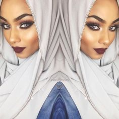 Grey bullet hijab from Fasion, Hijab Fashion, Sabina Hannan, High Fashion Looks, Hijabs, Girls Wear, Muslim, Islamic, Bullet
