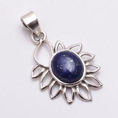 Natural Handmade Rare Lapis Lazuli 925 Sterling Silver Filigree Pendant Jewelry  #Handmade #Pendant