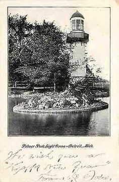 Detroit Michigan MI 1905 Palmer Park Lighthouse Collectible Vintage Postcard