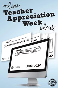 The complete guide to hosting Teacher Appreciation Week celebrations online, including free digital prompts that students can share in virtual classrooms. Teacher Cards, Teacher Gifts, Teacher Appreciation Quotes, Employee Appreciation, Elementary Counseling, Career Counseling, Teacher Discounts, Guidance Lessons, Celebration Quotes