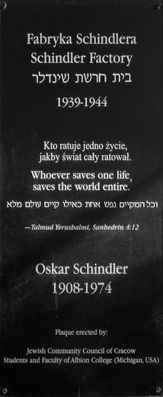 Best Oscar Schindler Images  Schindlers List World War Two  Oskar Schindler  Whoever Saves One Life Saves The World Entire I Have  Stood A Modest Proposal Ideas For Essays also Essays About Health Care  The Yellow Wallpaper Essays