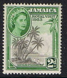 Jamaica 1953 Queen Elizabeth II Royal Visit Fine Mint SG Scott 154 Other West Indies and British Commonwealth Stamps HERE!