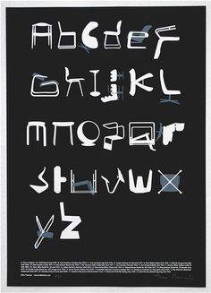 Classic Chairs As Alphabet. Tim Fishlocks Limited Edition Typeseat Screen Print and Chair Alphabet Prints From Blue Ant Studio.
