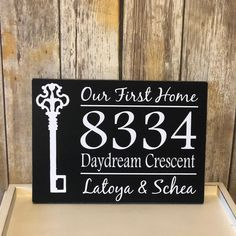 First Home Gifts, New Home Gifts, Real Estate Gifts, House Address Sign, Lake Signs, Custom Wood Signs, Vinyl Lettering, House Warming, New Homes