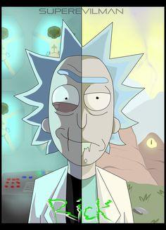 Rick and Morty art,Rick and Morty,Рик и Морти, рик и морти, ,фэндомы,Evil Rick,Злой Рик,R&M Персонажи