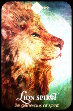 Lion Spirit ~ Be generous of Spirit 🦁 Animal Spirit Guides, Spirit Animal, Spirit Signs, Sign Meaning, Oracle Deck, Capricorn Traits, Star Children, Angel Cards, Shamanism