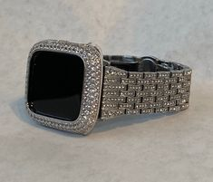 Crystal Apple Watch Band Women Silver Apple Watch Bezel Lab Diamond Cover Iwatch Bling Series 1 2 3 4 5 by Iwatchcandy on Etsy Rose Gold Apple Watch, Apple Watch Bands, Apple Band, Silver Apples, Apple Watch Accessories, Lab Diamonds, Bling, Crystals, Perfect Wedding