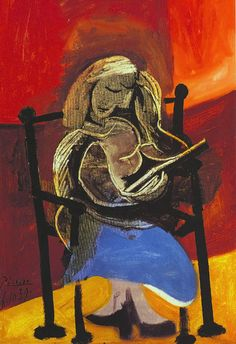 Pablo Picasso - Woman Reading (1939)