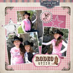 Cowgirl Digital Scrapbooking Kit – Country Rodeo Bling