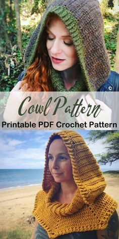 Baby Crochet Make a Cozy Hooded Cowl One Skein Crochet, Crochet Hooded Cowl, Hooded Scarf Pattern, Crochet Cowl Free Pattern, Crochet Blanket Patterns, Crochet Scarves, Crochet Shawl, Crochet Yarn, Cowl Patterns