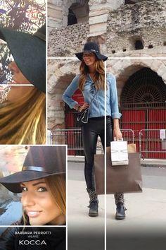 Barbara Pedrotti, Sky Tv host with #Bicin #hat. #Kocca #style #fashion #moda #look #Kwomen #FW15 #AI15 #Fwcollection1516