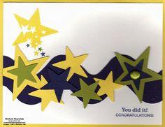 Star Wave Congratulations card