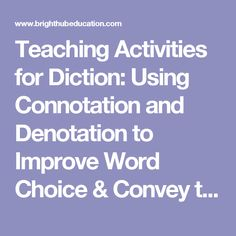 Connotation Examples For Kids