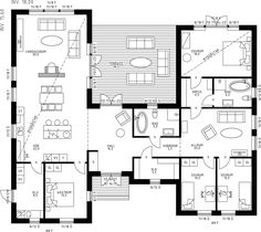 Architectural Floor Plans, Sims 4 Build, Planer, Room Inspiration, Building A House, House Plans, Villa, Home And Garden, Construction