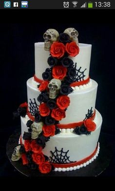 Halloween Wedding Cakes | Halloween wedding cake by Creative Cakes ...