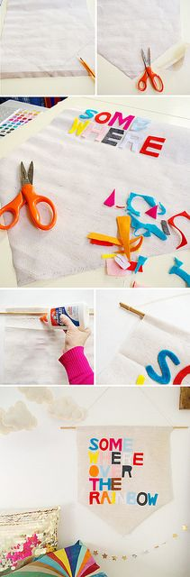 A-Lovely-Lark-DIY-No-Sew-Banner by A Lovely Lark, via Flickr