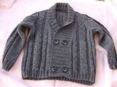 giacca trecce bimbo, by maglieria magica, 27,00€ su misshobby.com