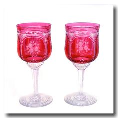 Inv. #16811  10 Baccarat Cranberry Water Goblets 20th Century French. Lawrence Jeffrey