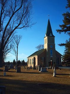 East Union Lutheran Church and cemetery in rural Carver County near Carver, Minnesota