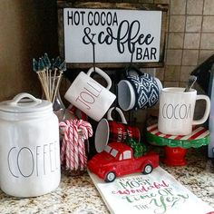 Good morning my dear friends! So glad it's Friday! Added some holiday cheer to my corner coffee station and working on the hot cocoa bar! Sharing for #drinkstationlove & #myweekendwarmup Have a wonderful day all!
