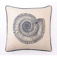 Shop here- $1 of every $5 goes to our charity! Trochus Shell Embroidered Pillow