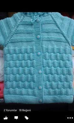 Hızlı ve Kolay Resim Paylaşımı Easy Knitting, Knitting For Kids, Baby Knitting Patterns, Crochet For Kids, Knitting Stitches, Knit Crochet, Cardigan Bebe, Knitted Baby Cardigan, Pullover Design