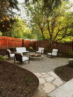 Fire pit in the back yard i includes breakdown of price for all materials