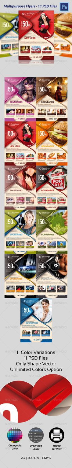 Multipurpose Flyer  #GraphicRiver        Features 	 	 A4& Print Ready, CMYK ,