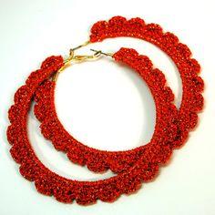 Diy Crochet Jewelry, Crochet Jewelry Patterns, Crochet Earrings Pattern, Crochet Vest Pattern, Crochet Ruffle, Crochet Flower Patterns, Thread Crochet, Crochet Accessories, Hand Crochet