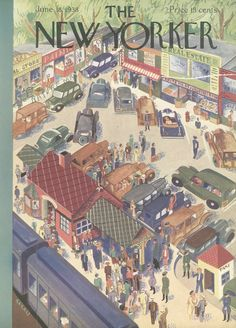 The New Yorker - Saturday, June 18, 1938 - Issue # 696 - Vol. 14 - N° 18 - Cover by : Ilonka Karasz