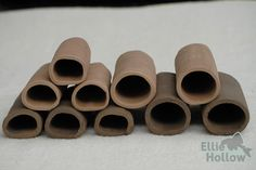 brown and dark brown pleco caves, oval and D-shape / legholen voor lnummers