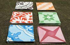 intervenções Poro azulejos de papel verde