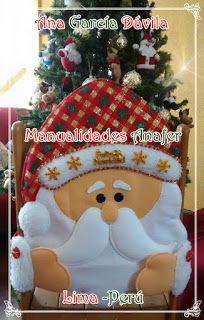Manualidades Anafer: Cubresillas Navideños Christmas Crafts, Xmas, Christmas Ornaments, Christmas Stockings, Snowman, Santa, Holiday Decor, Inspiration, Home Decor