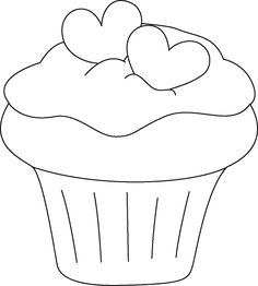 Cupcakes – Bananalana's Blog Cute Cupcake Drawing, Cupcake Art, Cupcake Painting, Drawing For Kids, Art For Kids, Summer Crafts, Diy And Crafts, Alice In Wonderland Tea Party Birthday, Cute Coloring Pages