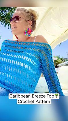 Crochet Summer Tops, Crochet Halter Tops, Crochet Dresses, Crochet Clothes, Knit Crochet, Boho Crochet Patterns, Crochet Cardigan Pattern, Sombrero A Crochet, Crochet Sweaters