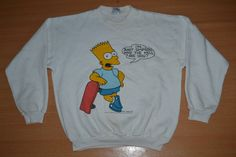 Vintage 90s BART Simpson Who The Hell Are You L Size rare 80s sweatshirt sweater T-shirt by OldSchoolZone on Etsy