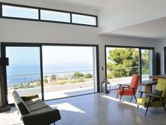 CP 50 - Door sliding system by Reynaers Aluminium Exterior Sliding Glass Doors, Exterior Barn Doors, Metal Barn Homes, Metal Building Homes, Blinds For French Doors, Windows And Doors, Traditional Patio Doors, Interior Design Living Room Warm, Backyard House