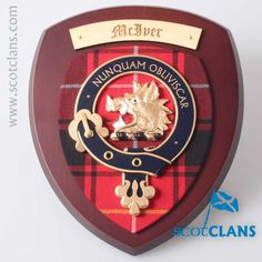 Clan McIver Wall Plaque. Free worldwide shipping available