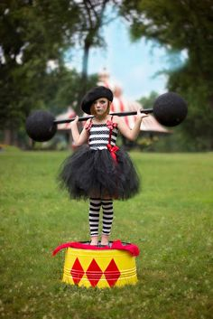 Parisian Circus Mime Tutu Dress ....Girl Size by LittlePinkArmoire, $65.00
