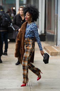 New York Fashion Week Street Style, Nyfw Street Style, Autumn Street Style, Street Style Looks, Street Styles, Plaid Fashion, Fall Fashion Outfits, Fashion Weeks, Fall New York