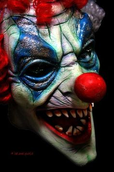 Creepy clown-not the glitter, but the lines are interesting