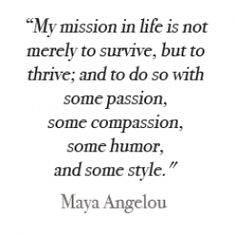 Great mission statement. Thanks Maya!