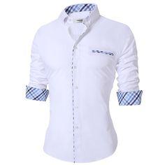 2018 High Quality Men's Casual Shirt Cotton Black Shirt Men Long Sleeve Office Dress Shirts Men Plus Size Camisa Masculina Formal Shirts, Casual Shirts For Men, Men Casual, Oldschool, Plus Size Casual, Office Dresses, Adidas, Muslim, Long Sleeve Shirts