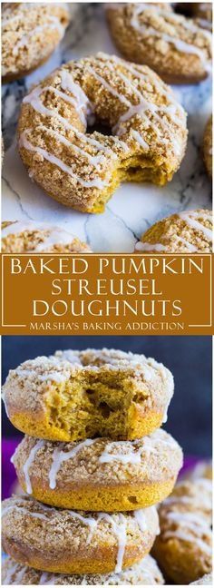 Baked Pumpkin Streusel Doughnuts | http://marshasbakingaddiction.com /marshasbakeblog/