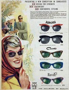 "atomic-flash: "" The latest designs in modern sunglasses, 1961 """