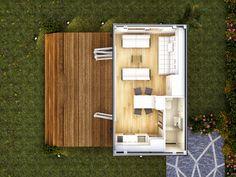 Floor Plan - Torino - Single Bedroom Prefab Modular Home by NovaDeko, via Flickr